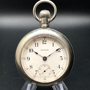 Vintage Waltham Pocket Watch Keystone Silveroid 18s Case 15j Grade no. 81 c.1902