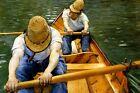 Oarsmen Rowing Boat Oar River Sport 1877 By Caillebotte Art Repro FREE S/H