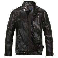 New Men's Genuine Lambskin Leather Jacket Coat Slim Fit Biker Motorcycle Jacket