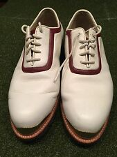 Vecci Fore Ltd Gold Tip Leather Golf Shoes 9 1/2