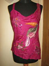 David Bitton safari silk TOP 10 pin-up unique party applique embroidery sequins