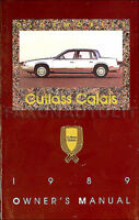 1989 Oldsmobile Cutlass Calais Owners Manual Olds MINT Original Owner Guide Book