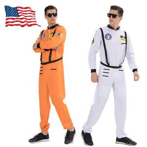 Underwraps Astronaut Orange NASA Adult Plus Teen Mens Halloween Costume US