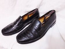 BRASS BOOT Men's Loafer Style Shoes 13 M Black Moc Toe India Hand Made Leather