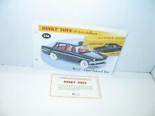 1 Spina + Certif. Dinky Toys Atlas Repro Rif. 546, Opel Rekord Taxi
