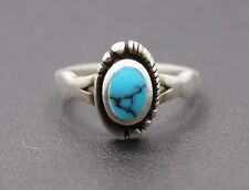 Sterling Silver Small Oval Southwestern Style Ring Size 6.5 / 2.7g