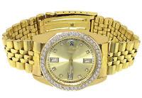 Ladies Jojino/Joe Rodeo/Jojo 35mm Simulated Diamond Yellow Gold Tone Iced Watch