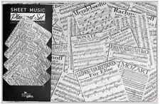 Sheet Music Placemat and Coaster Set