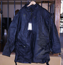 KADOSH MEN'S 3/4 LENGTH BLACK NATURAL LEATHER JACKET NEW LINED, HOOD LARGE L