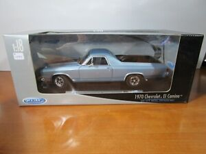 WELLY 1/18 BLUE 1970 CHEVY EL CAMINO SS 396 NEW IN THE BOX *ISSUE* READ