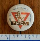 ORIGINAL WWI AUSTRALIAN YMCA WITH THE BOYS - COMING HOME PINBACK / BUTTON