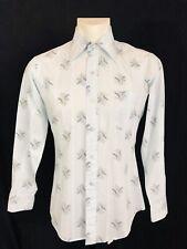 Vintage 1970's Baymart Casual Dress Shirt Mens Blue 15-34 Long Sleeved