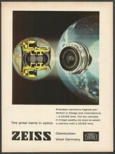 ZEISS lens - 1964 Vintage Print Ad