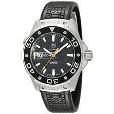 WAJ1110.FT6015  Tag Heuer Aquaracer Swiss Quartz Black Dial Black Rubber Watch