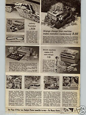 1968 PAPER AD Glbert Erector Motorized Mattel Tog'l Blocks Time Machine Shrink