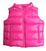 Polo Ralph Lauren Kids Childrens Girls Gilet Waistcoat Pink Down Filled MU55