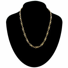 """Necklace Vintage Thin Unusual Interlock Link Chain Gold Tone 1980S 18"""""""