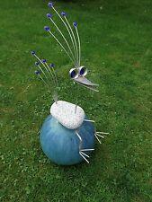 Edelstahl Vogel / Garten Skulptur 65cm Granitvogel V2A Kantenhocker