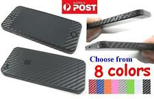 High Quality Carbon Fiber Full Body Skin Cover sticker For iPhone 5 5G 10 Colors