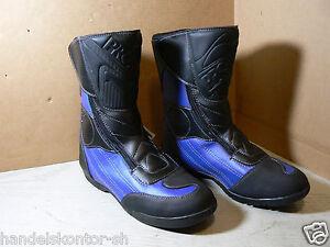 Probiker Sport RFX Racing Stiefel Boots schwarz blau Leder Gr 44 Sympatex