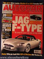 AUTOCAR Magazine 28th May 2002 Jaguar F-Type,Audi RS6,Porsche Cayenne,VW R32