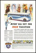 1940s vintage ad for Greyhound Bus Lines -324