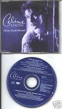 celine dion -  only one road  uk cd single + tour dates