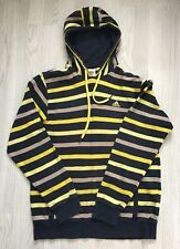 Mens Addidas Black / Yellow Stripped Hoodie Jumper Size M
