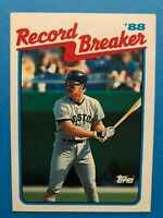 1989 Topps #2 - Wade Boggs - Boston Red Sox (Record Breaker '88)