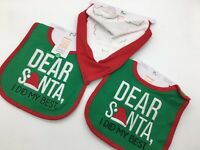 Lot Of 3 New Baby Christmas Bibs Santa Beard Bandana Bib And Santa I Did My Best