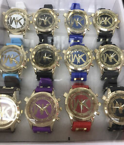 NEW Lot of 12 pc Women's WKMix Color Watch Wholesale