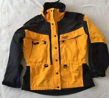 Solstice Black Yellow Ski Jacket Size Large Women's No hood Shell Only