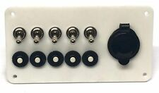 Marine Grade White Acrylic Panel with 5 Carling Technologies Toggle Switches,...