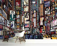 Papel Pintado Mural Para Dormitorio Salón y Infantil Habitación Nuevo York Calle