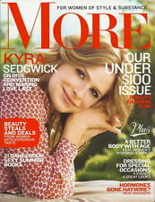 Kyra Sedgwick More Magazine Aug 2012 Better Body with Age Sexy Summer Books