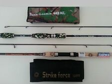 FISHING ROD SPINNING ROD DAIWA BASS LOOMIS CARBON COMBO