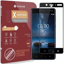SAMAR Nokia 8 Premium Quality Tempered Glass Screen Protector Ultra Lightweight