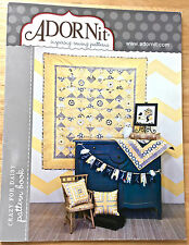 ADORNIT SEWING PATTERN BOOK~ CRAZY FOR DAISY ~ 16 PROJECTS W/ PATTERNS INCLUDED