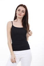 Ladies Plain Sleeveless Vest Womens Cami Tank Top Strap Stretch Buy 2 Get 1 FREE