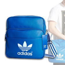 Adidas Originals Vintage-Look Unisex Sir Bag Shoulder Strap Messenger Blue White