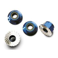 Traxxas TRA1747R Nuts aluminum flanged serrated (4mm) (blue-anodized) (4)