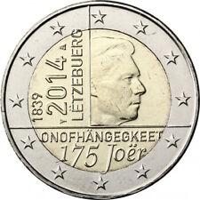"""2 euro commémorative Luxembourg 2014 """" Indépendance""""  NEUVE UNC"""