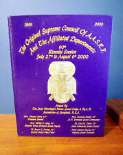 Freemasonry Maryland Original Supreme Council Session AFAM Book 2000