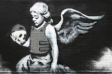 Urban Angel 18x12 Print Poster by Famous Artist Bansky Urban Street Artist