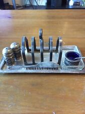 Antique Toast Rack And Condiments Epns