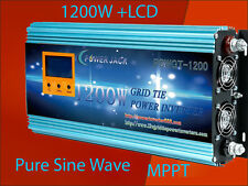 "1200W Grid Tie Inverter 102V-158VDC/220VAC With 3.5""LCD&MPPT Charger Solar Panel"