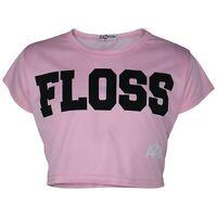Enfants Bébé Fille Rose Haut Court Créateur Floss Élégant Mode T-Shirt 5-13 Ans