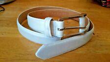 """White Faux Snake or Lizard Skin Leather Belt Renfrew Size Large XL  40"""" long"""