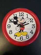 Rare Uniquely 1987 The Wall Disney Clock Mickey Mouse Company Lorus Quartz