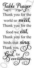 Kitchen STENCIL*Table Prayer*12x24 For Signs Wood Canvas Fabric Bless the Food
